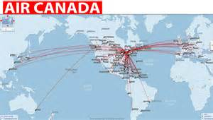 map my route canada international flights