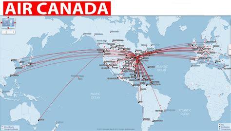 air canada interactive map canada flights map