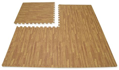 hausen interlocking wood effect soft foam mats