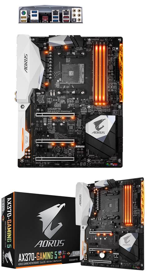 Gigabyte Ga Ax370 Gaming 5 Am4 Amd Promontory X370 Ddr4 Usb 31 gigabyte aorus ax370 gaming 5 motherboard ga ax370 gaming 5 pc gear