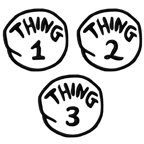 free coloring pages of thing 1 2 3