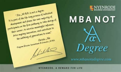 The Value Of An Mba Education by Master In Business Administration Not A Degree