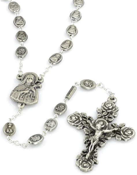 silver rosary st th 233 r 232 se of lisieux silver plated rosary