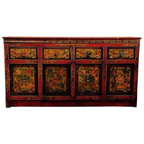 Tibetan Sideboard tibetan polychrome buffet sideboard at 1stdibs