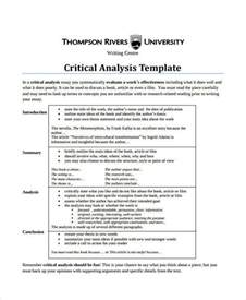 critical evaluation template critical evaluation essay template