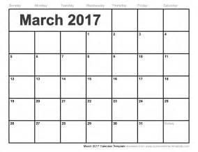 march 2017 calendar printable free calendar 2017