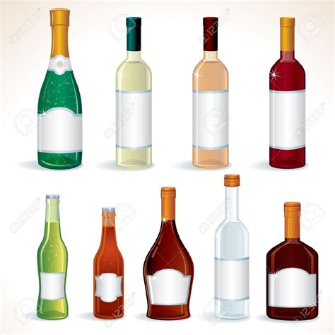 alcoholic drinks bottles liqueur clipart clipground