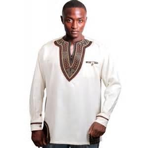 Dashiki linen embroidery contemporary african designer clothing