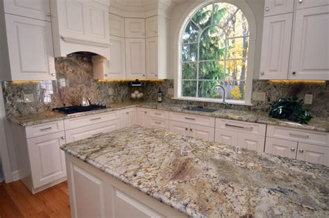 Typhoon Bordeaux Granite With White Cabinets by Typhoon Bordeaux Kitchen Traditional Kitchen By