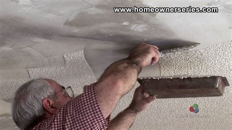 How To Repair A Popcorn Ceiling by How To Fix Drywall Removing Popcorn Texture Drywall