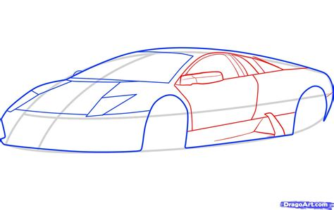 Easy To Draw Lamborghini Step 4 How To Draw A Lamborghini Murcielago Lamborghini