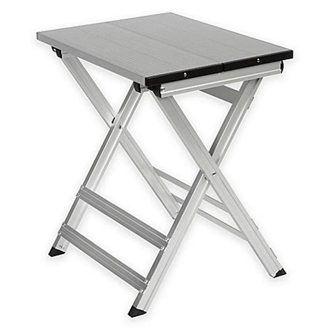 aluminum folding work bench buy folding shower bench in aluminum finish from bed bath