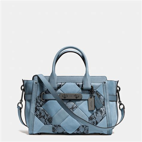 Coach Swagger Bag By Bagladies coach swagger 27 in patchwork embossed leather in