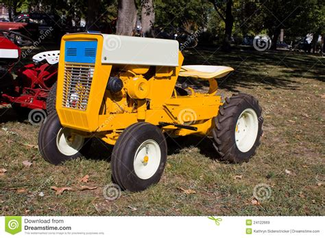 Lawn And Garden Tractors by 1960s Lawn And Garden Tractor Royalty Free Stock Images