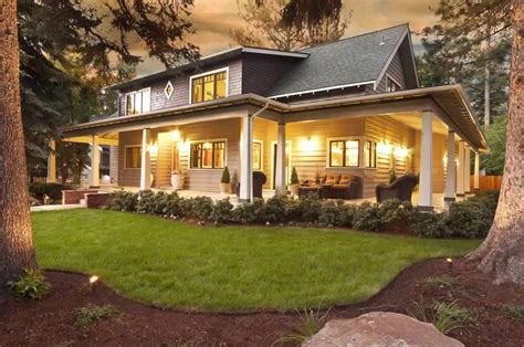 wrap around front porch large front porch house plans