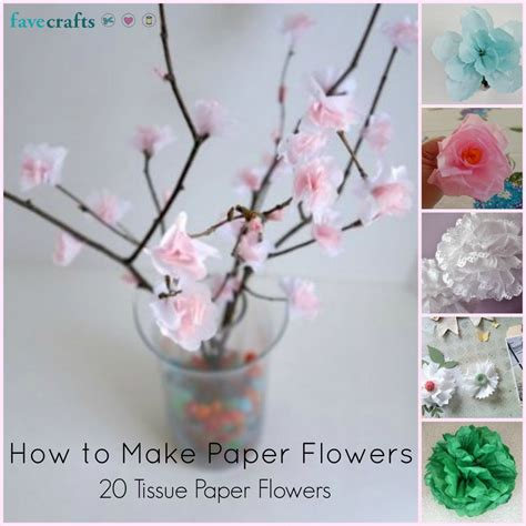 How To Make Flowers With Craft Paper - tissue paper crafts for flowers