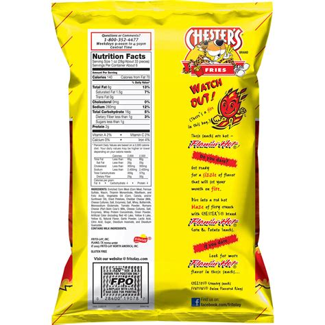 flamin hot funyuns canada frito lay funyuns nutrition facts nutrition ftempo