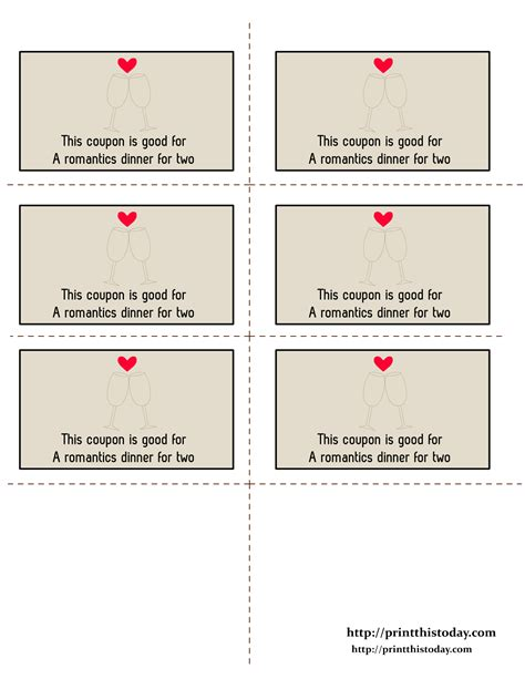 free printable love coupons templates 9 best images of love printable template gift coupon