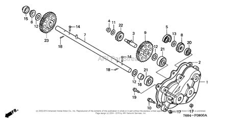 honda snowblower parts diagram honda hs828 tas snow blower jpn vin szak 1000001 to