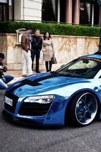 Chrome Blue Audi R8 Blue Chrome Audi R8 Car