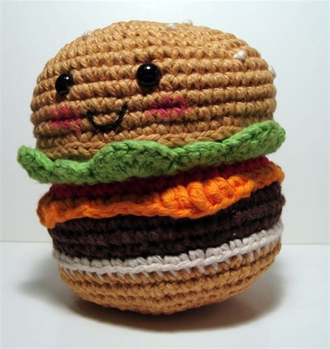 amigurumi hamburger pattern free nerdigurumi free amigurumi crochet patterns with love