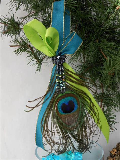 peacock feather christmas trees for sale feather on ribbon p e a c o c k c h r i s t m a s feathers peacocks and ornament