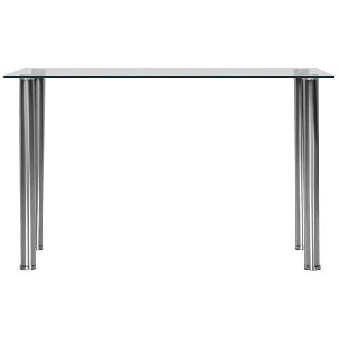 silver and glass sofa table napoli glass sofa table