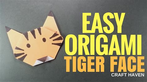 Origami Tiger Easy - easy origami tiger how to paper origami tutorial