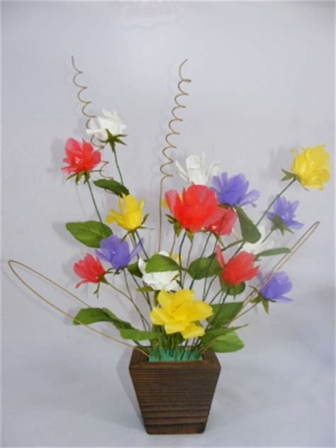 cara membuat bunga dari kertas plastik cara membuat bunga cantik dari sedotan we love cute