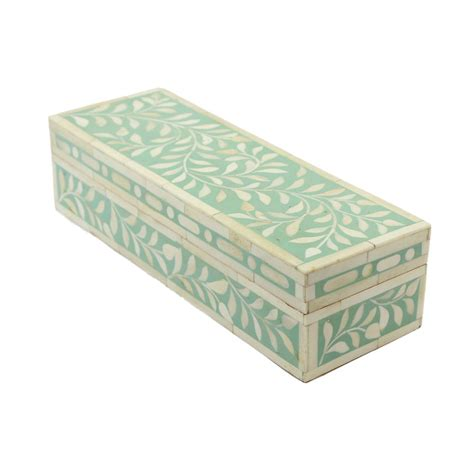 Decorative Boxes For by 12 Quot Green Trinket Bone Inlay Decorative Box Roomattic