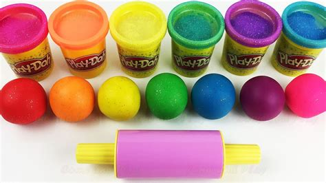 play doh colors learn colors with play doh balls and cookie molds