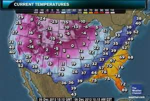 winter cleon record lows us weather map today is