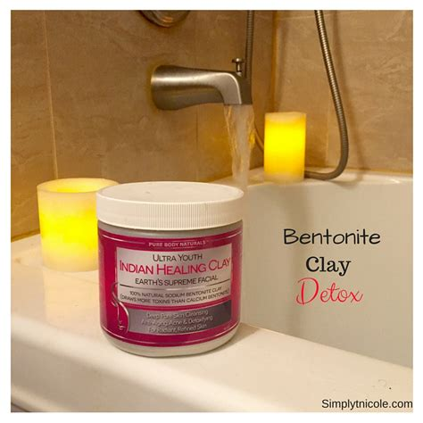 Living Clay Detox Bath by Bentonite Clay Detox Bath Simply T