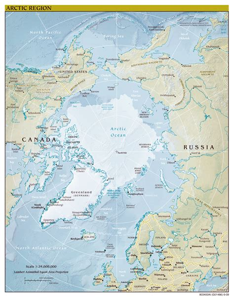 large scale map large scale political map of arctic region with relief 2009 vidiani maps of all