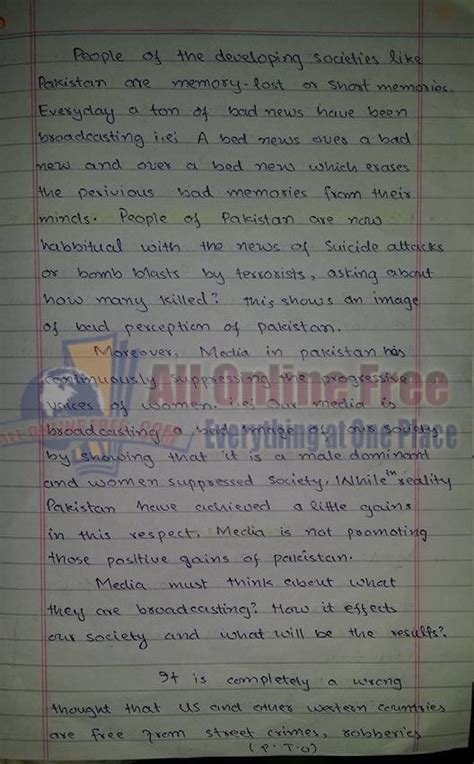 Css Essays Notes by Article Essay On Quot Media In Pakistan Quot All Free