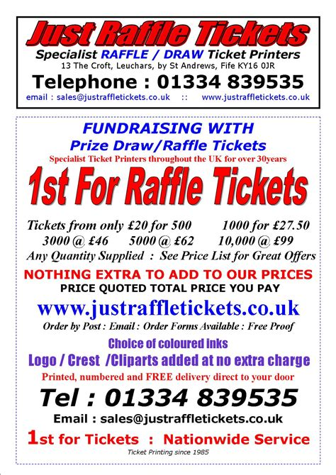 printing raffle tickets uk home page www justraffletickets co uk