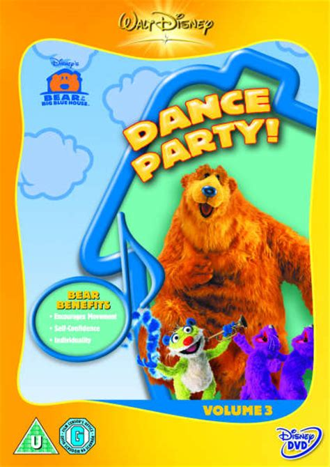 bear inthe big blue house dvd bear in the big blue house dance party dvd zavvi com