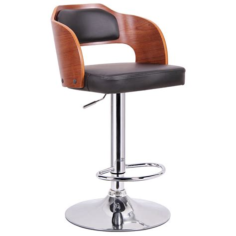 Molded Plywood Bar Stool by Sitka Adjustable Swivel Bar Stool Molded Plywood Black
