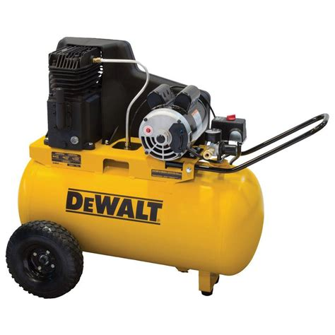 dewalt 20 gal portable horizontal electric air compressor