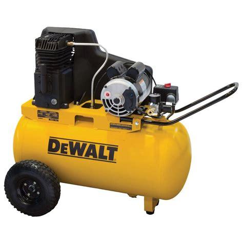 DEWALT 20 Gal. Portable Horizontal Electric Air Compressor DXCMPA1982054   The Home Depot
