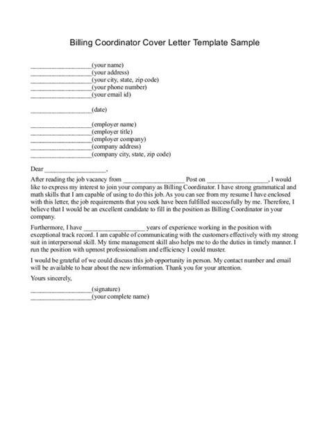 free cover letter for medical billing and coding cover