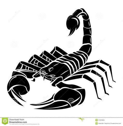 scorpion mascot tattoo stock vector illustration of