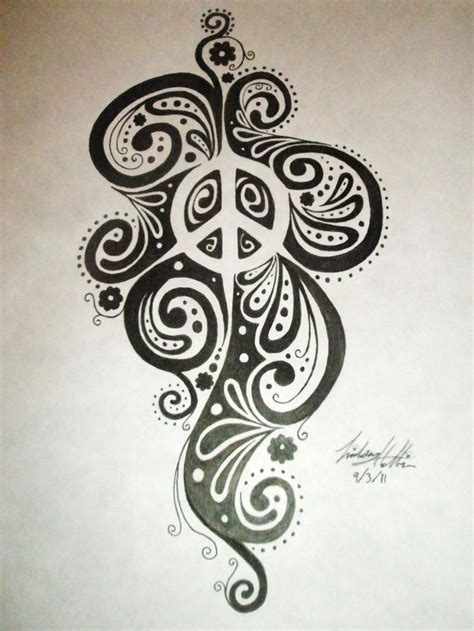 tattoo peace designs 1000 ideas about peace sign tattoos on