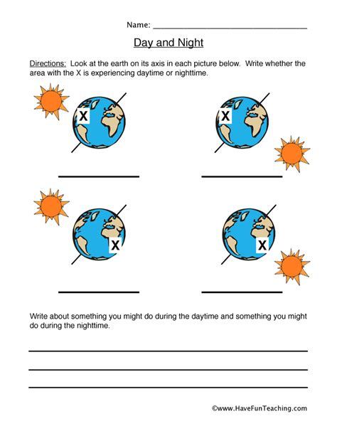 Day And Worksheets by Light Worksheets Teaching