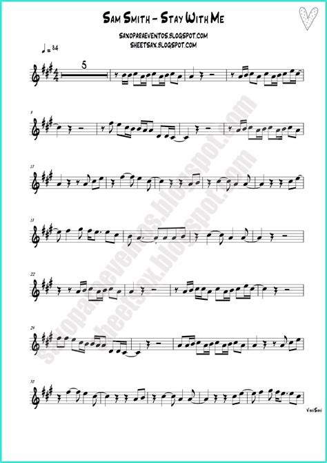 song for 2016 stay with me by sam smith free sheet and playalong