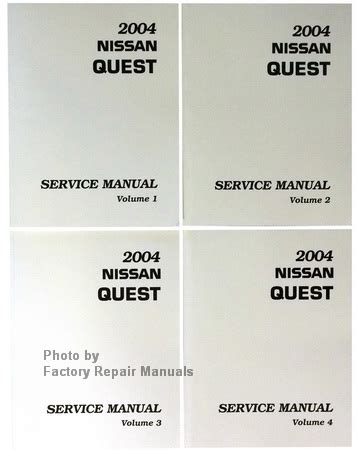 how to download repair manuals 2004 nissan quest electronic toll collection 2004 nissan quest factory service manual complete 4 volume set factory repair manuals