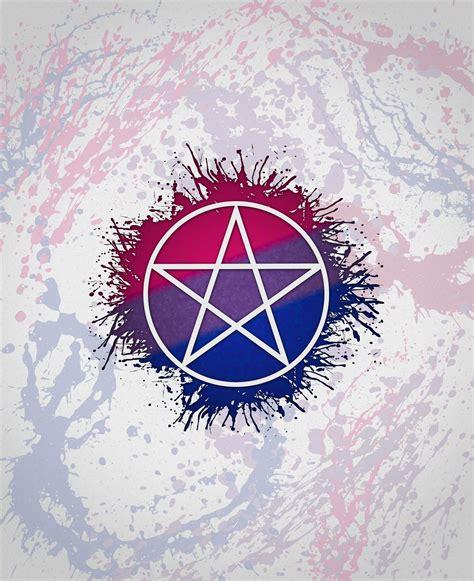 bi colors pride pentacle pagan pentacle in pride