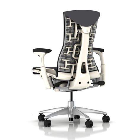 How To Adjust Herman Miller Chair herman miller embody chair charcoal rhythm with white frame and titanium base embody home