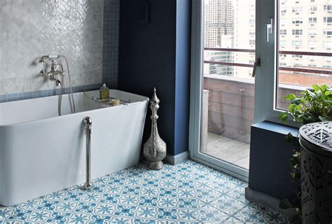 In Bathrooms by 10 Gorgeous Ways To Do Patterned Tile In The Bathroom