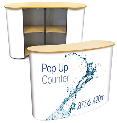 Pop Up Reception Desk The Pop Up Counter With Graphic Is Ideal As A Reception Desk Info Station Or Ticket Point